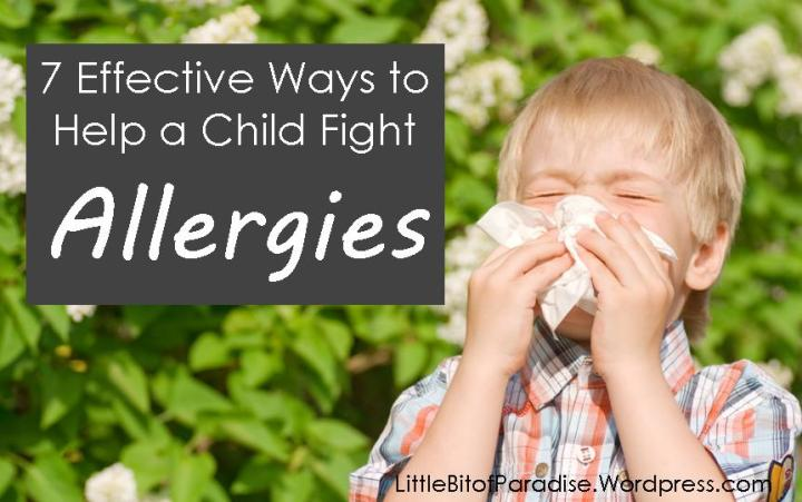 7 Ways to Help a Child Fight Allergies